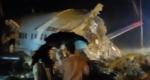 Air India aircraft broken into two pieces1