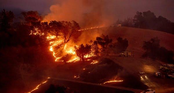 wildfire spread in California