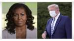 Michelle Obama and Donald Trump