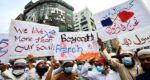 Protests against France in Bangladesh and Indonesia