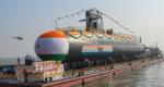 Indian Navy launches fifth Scorpion class submarine1