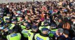 protesting against lockdown in London1