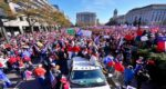 people rallied in support of Trump