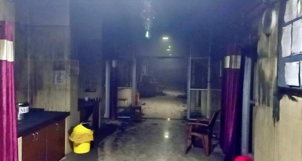 Bhandara district hospital catches fire