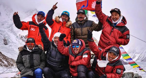 Nepali climbers made history by conquering K2 mountain
