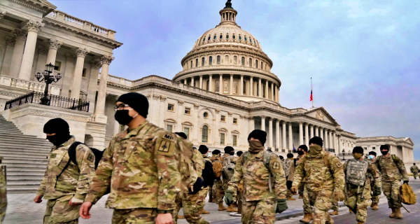 Thousands of soldiers arrived in Washington