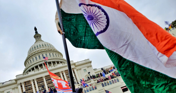 indian flag at capitol
