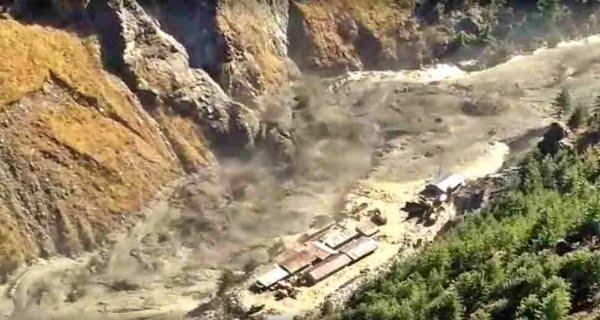 glacier burst in Raini in Chamoli