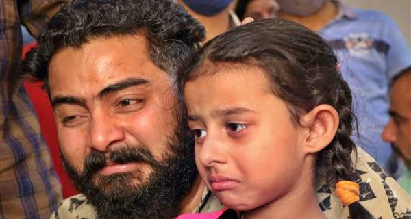 Appeal of 5-year-old daughter of hostage jawan