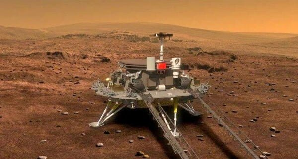 China's spacecraft landed on Mars