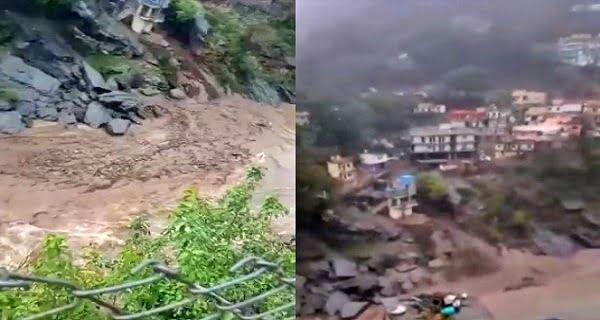 Heavy damage due to cloudburst in Devprayag