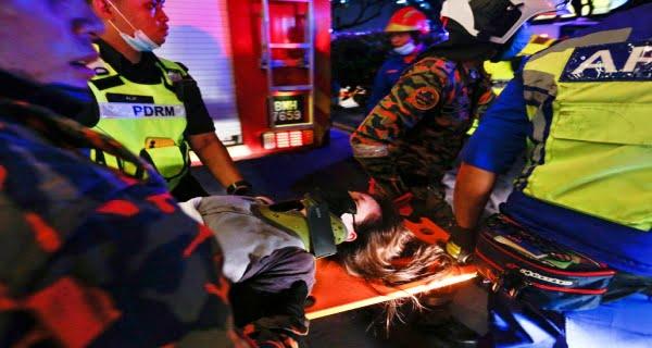 Major train accident in Malaysia