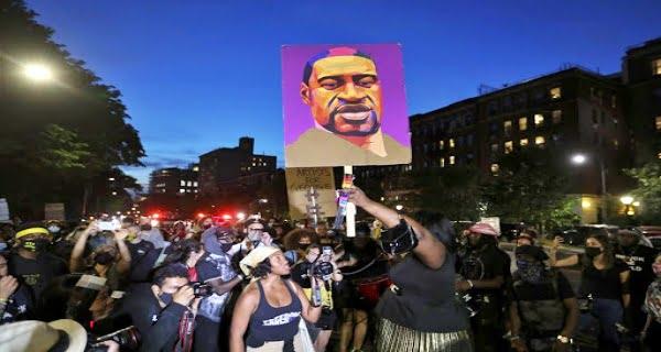 people held silent rallies on the anniversary of Floyd