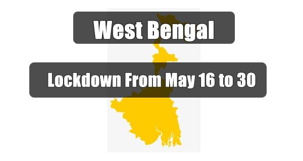 west bengal lockdown