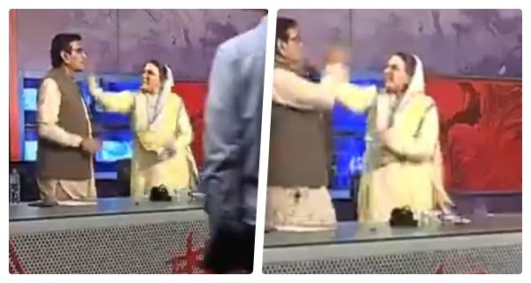 Firdous slaps and abuses Pakistani MP in TV show