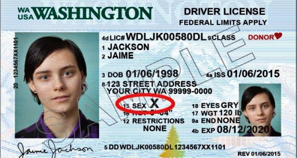 Option of X to specify gender in America