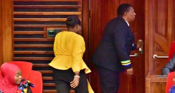Woman MP was thrown out