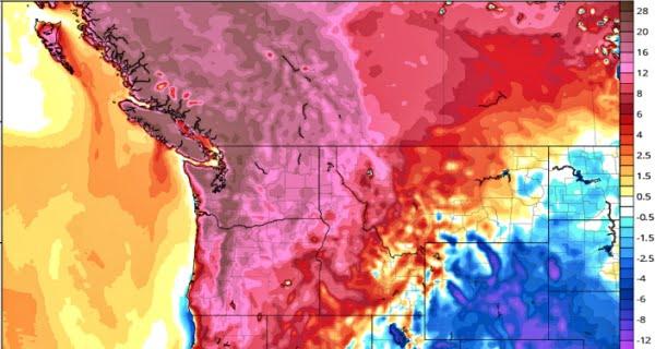 heatwave affecting the Pacific Northwest region