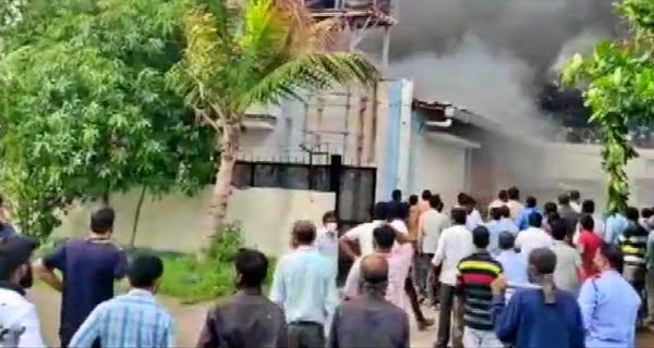 Fire at chemical factory pune