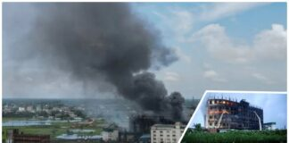 Bangladesh, fire broke out in a factory
