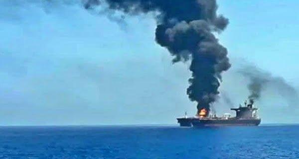 Drone attack on oil tanker