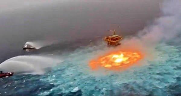 Eye of fire' seen in Mexico Sea
