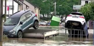 Germany floods after heavy rains