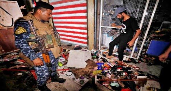 Massive bomb blast in Baghdad market