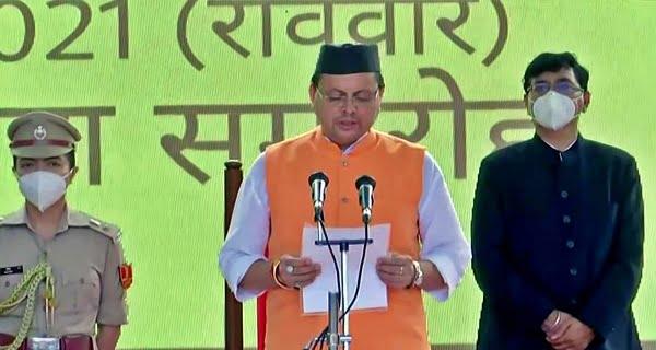 Pushkar Singh Dhami sworn in