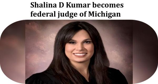 Shalina D Kumar becomes federal judge
