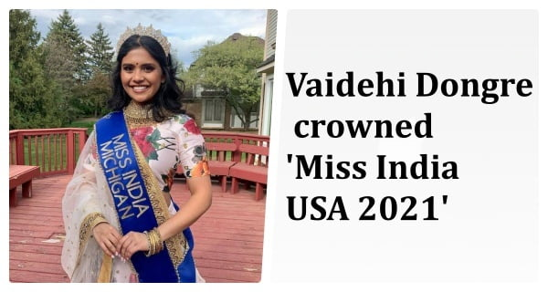 Vaidehi Dongre crowned Miss India USA 2021