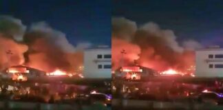massive fire at Iraq's Covid-19 hospital