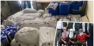 police have seized 350 kg of heroin