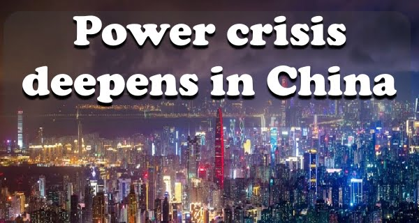 Power crisis deepens in China
