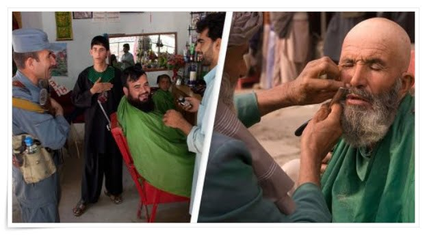 men in Helmand province cannot shave their beards