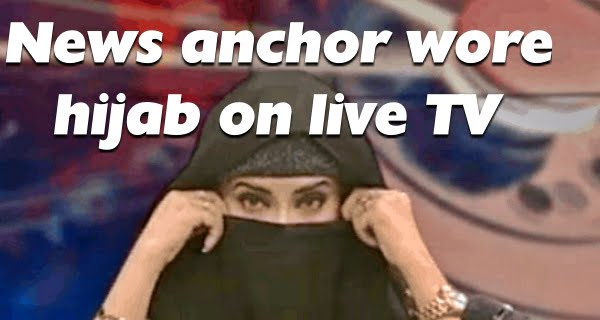 news anchor wore hijab in live TV
