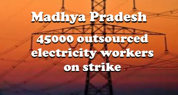 outsourced electricity workers on strike