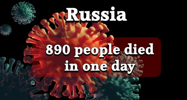 890 people died of Covid-19 in one day