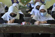 Afgani girls in schools