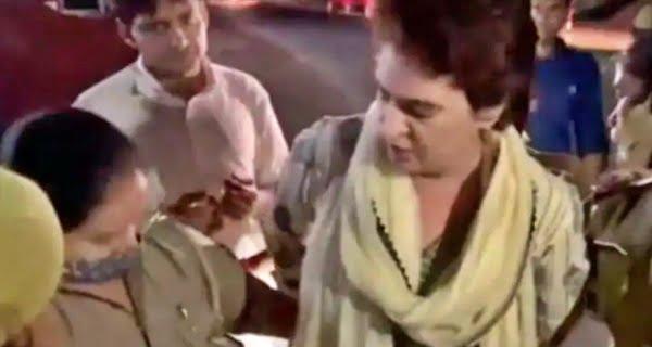 Police detained Priyanka Gandhi