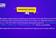 SBI notice