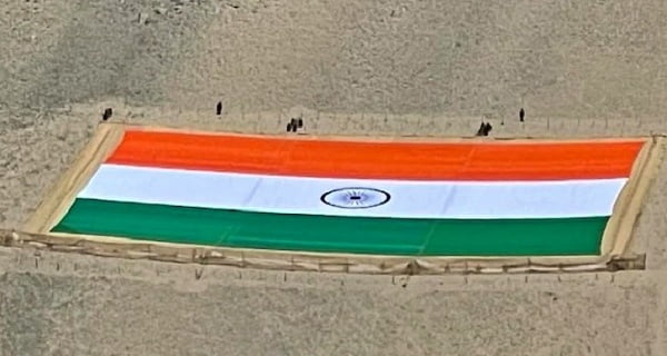 World's largest tricolor hoisted in Leh