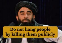 do not hang people by killing them publicly